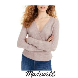 Madewell | Faux Wrap Pullover Sweater